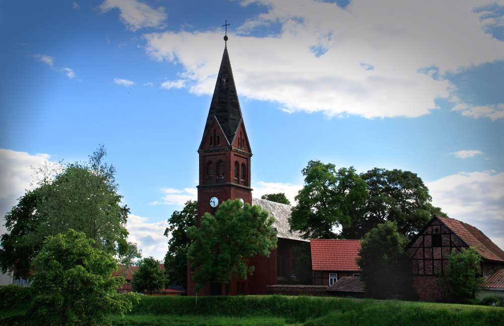 Die Kirche von Ringleben bei Gebesee